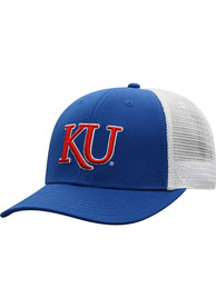 Kansas Jayhawks Top of the World BB Meshback Adjustable Hat - Blue