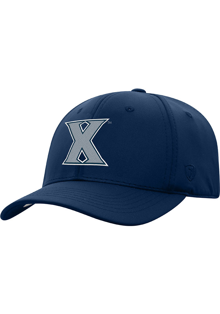Top of the World Xavier Musketeers Mens Navy Blue Phenom 1-Fit Flex Hat - Image 1