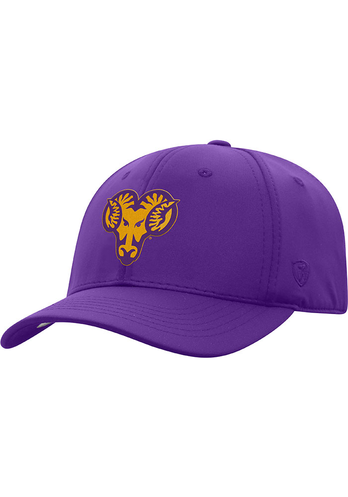Top of the World West Chester Golden Rams Mens Purple Phenom 1-Fit Flex Hat - Image 1