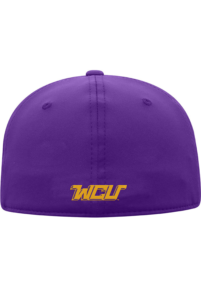 Top of the World West Chester Golden Rams Mens Purple Phenom 1-Fit Flex Hat - Image 2