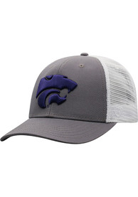 K-State Wildcats Top of the World BB Meshback Adjustable Hat - Purple