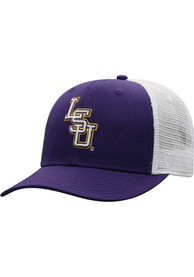 LSU Tigers Top of the World BB Meshback Adjustable Hat - Purple