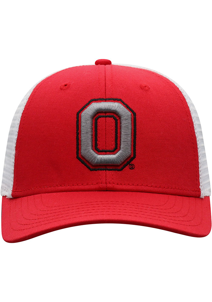 Top of the World Ohio State Buckeyes BB Meshback Adjustable Hat - Red - Image 3