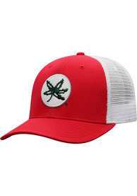 Ohio State Buckeyes Top of the World BB Meshback Adjustable Hat - Red
