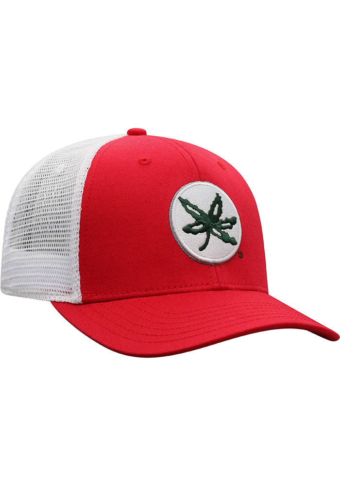 Top of the World Ohio State Buckeyes BB Meshback Adjustable Hat - Red - Image 2