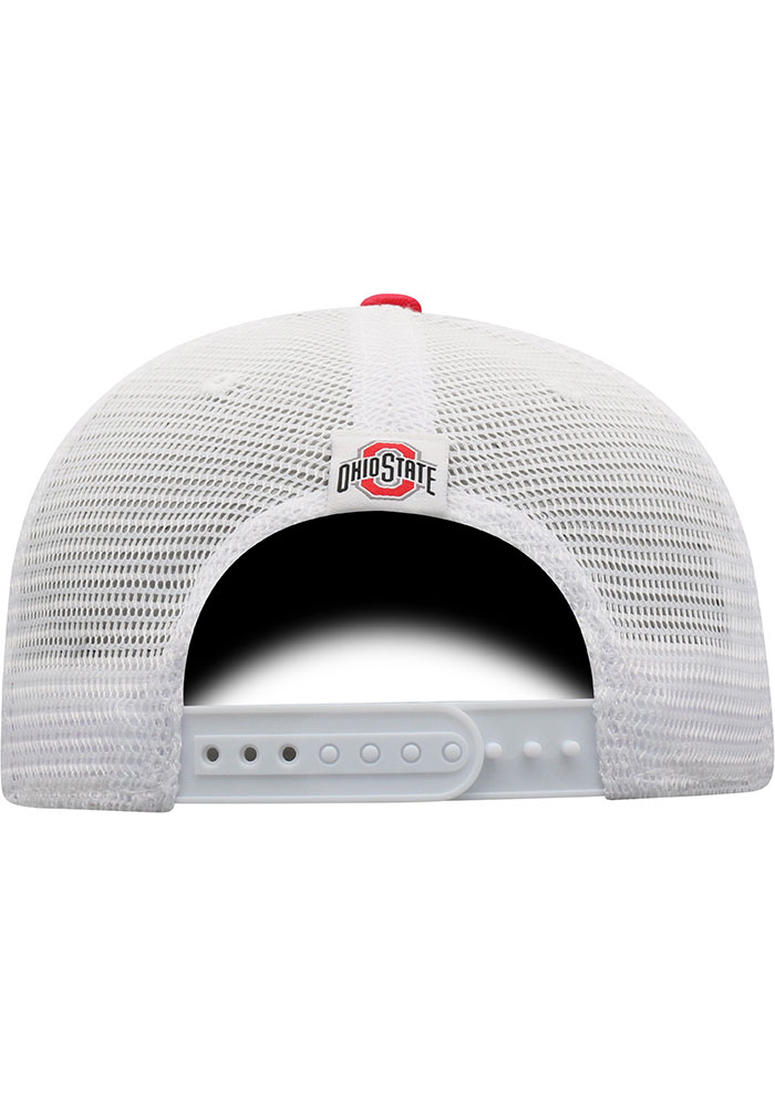 Top of the World Ohio State Buckeyes BB Meshback Adjustable Hat - Red - Image 4