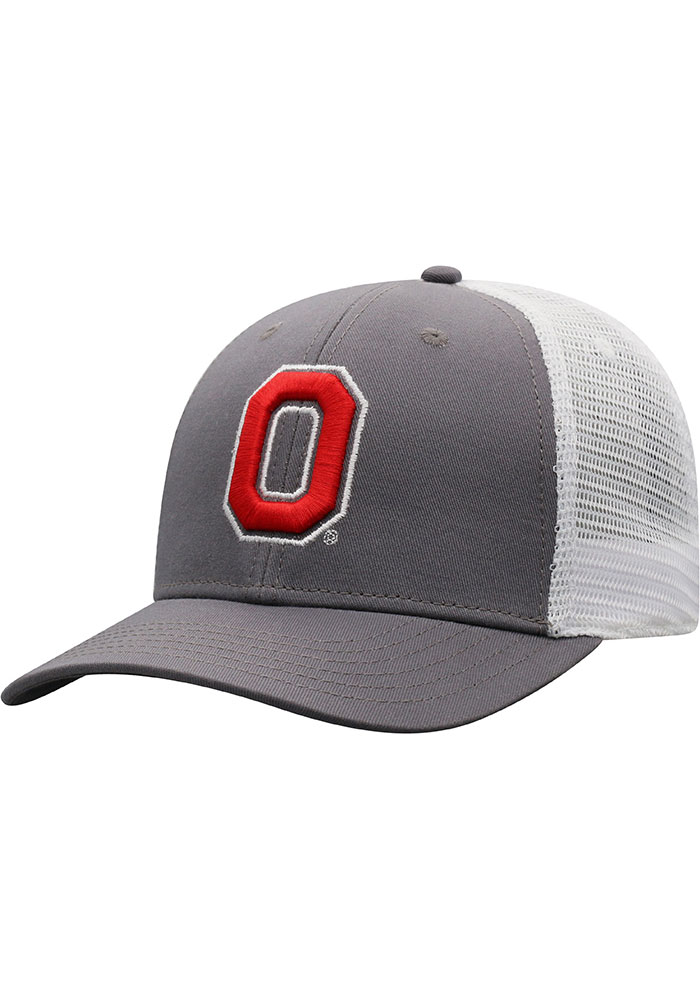 Top of the World Ohio State Buckeyes BB Meshback Adjustable Hat - Red - Image 1