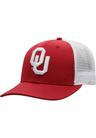 Oklahoma Sooners Top of the World BB Meshback Adjustable Hat - Crimson