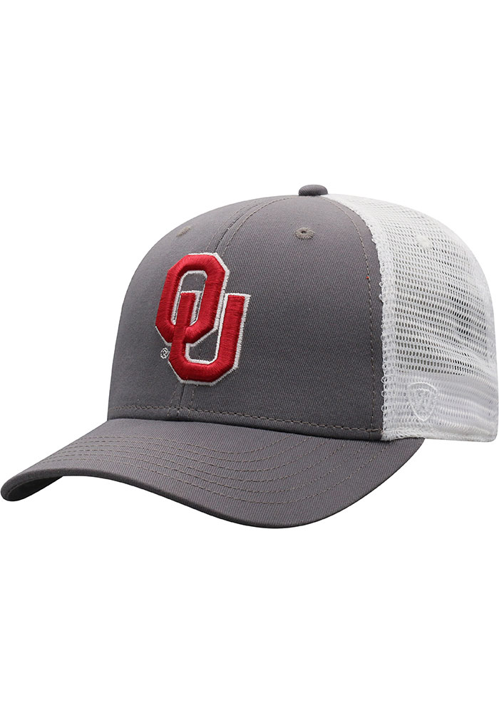 Top of the World Oklahoma Sooners BB Meshback Adjustable Hat - Crimson - Image 1