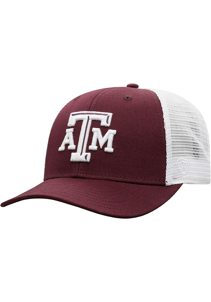 Texas A&M Aggies Top of the World BB Meshback Adjustable Hat - Maroon