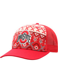 Ohio State Buckeyes Top of the World Given Holiday Sweater Adjustable Hat - Red