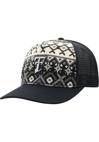 Texas Tech Red Raiders Top of the World Given Holiday Sweater Adjustable Hat - Black