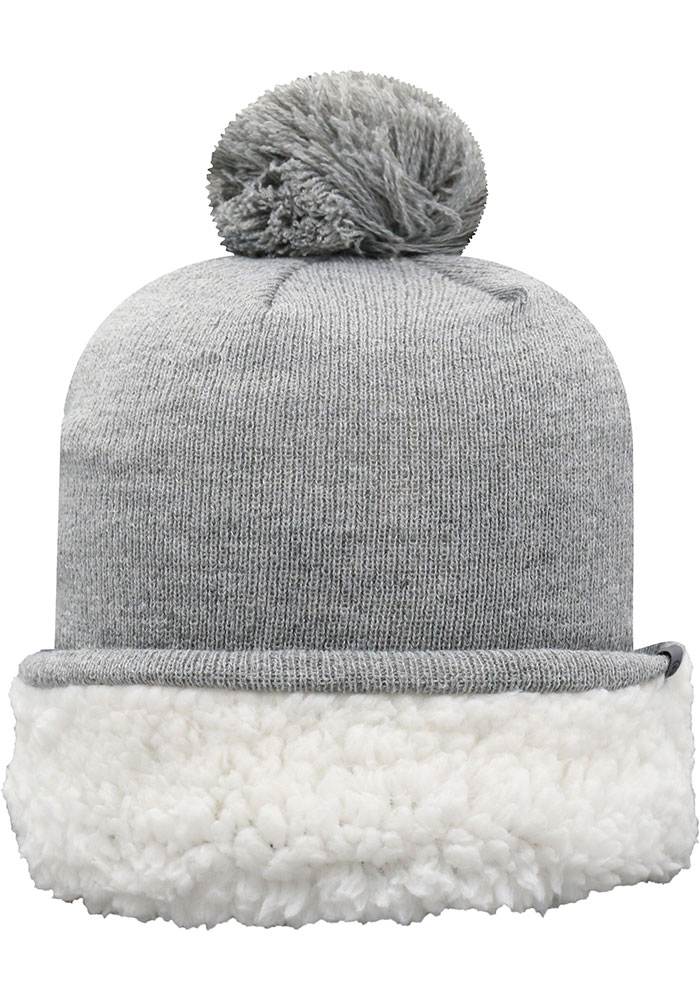 Top of the World Michigan State Spartans Grey Snugs Sherpa Cuff Pom Womens Knit Hat - Image 2