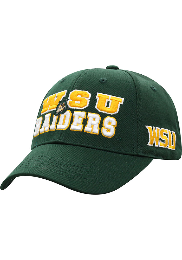 Top of the World Wright State Raiders Tomahawk Adjustable Hat - Green - Image 1
