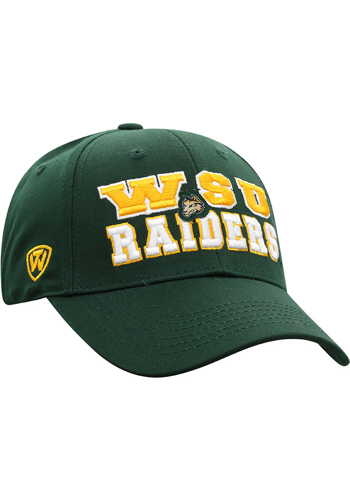 Top of the World Wright State Raiders Tomahawk Adjustable Hat - Green - Image 2