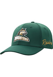 Top of the World Wright State Raiders Mens Green Phenom One-Fit Flex Hat
