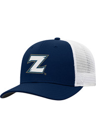Akron Zips Top of the World BB Meshback Adjustable Hat - Navy Blue