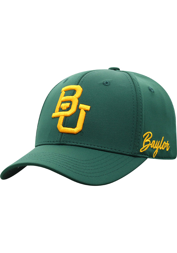 Top of the World Baylor Bears Mens Green Phenom One-Fit Flex Hat - Image 1