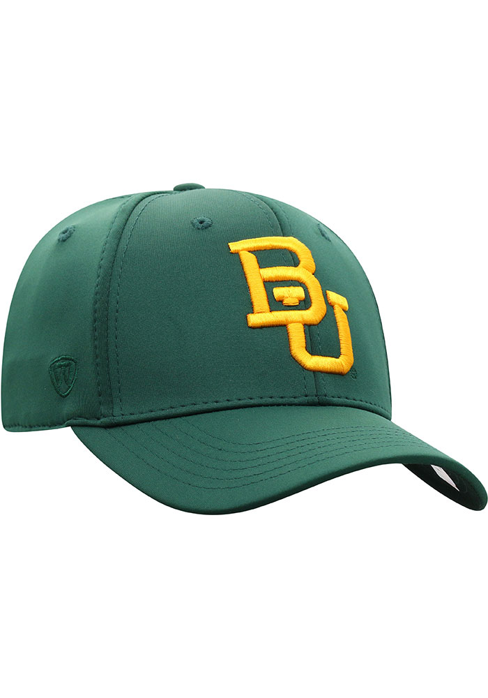 Top of the World Baylor Bears Mens Green Phenom One-Fit Flex Hat - Image 2
