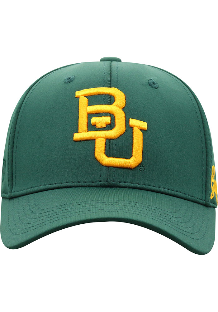 Top of the World Baylor Bears Mens Green Phenom One-Fit Flex Hat - Image 3