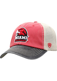 Miami RedHawks Top of the World Offroad Meshback Adjustable Hat - Red