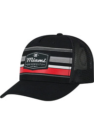 Miami RedHawks Top of the World Route Meshback Adjustable Hat - Black