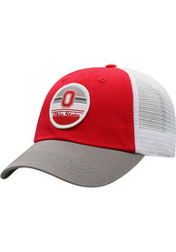 Ohio State Buckeyes Top of the World Early Up Meshback Adjustable Hat - Red