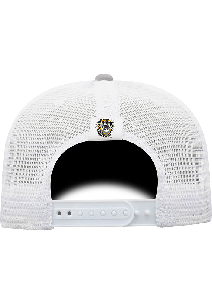 Top of the World Fort Hays State Tigers BB Meshback Adjustable Hat - Grey - Image 2