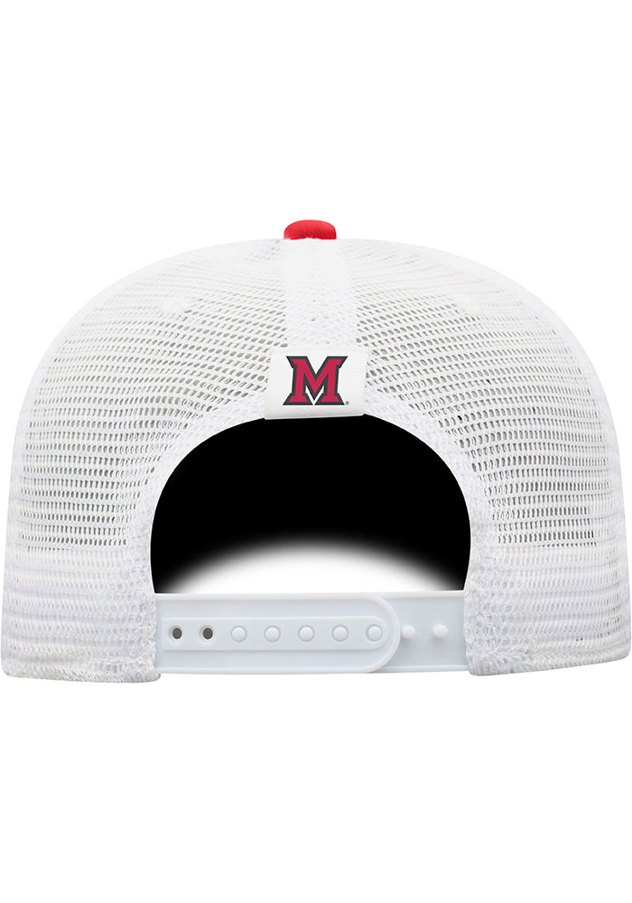 Top of the World Miami RedHawks BB Meshback Adjustable Hat - Red - Image 2