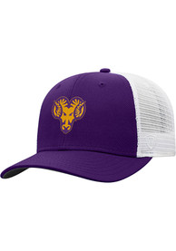 West Chester Golden Rams Top of the World BB Meshback Adjustable Hat - Purple
