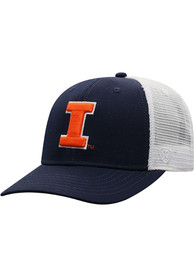 Illinois Fighting Illini Top of the World BB Meshback Adjustable Hat - Navy Blue