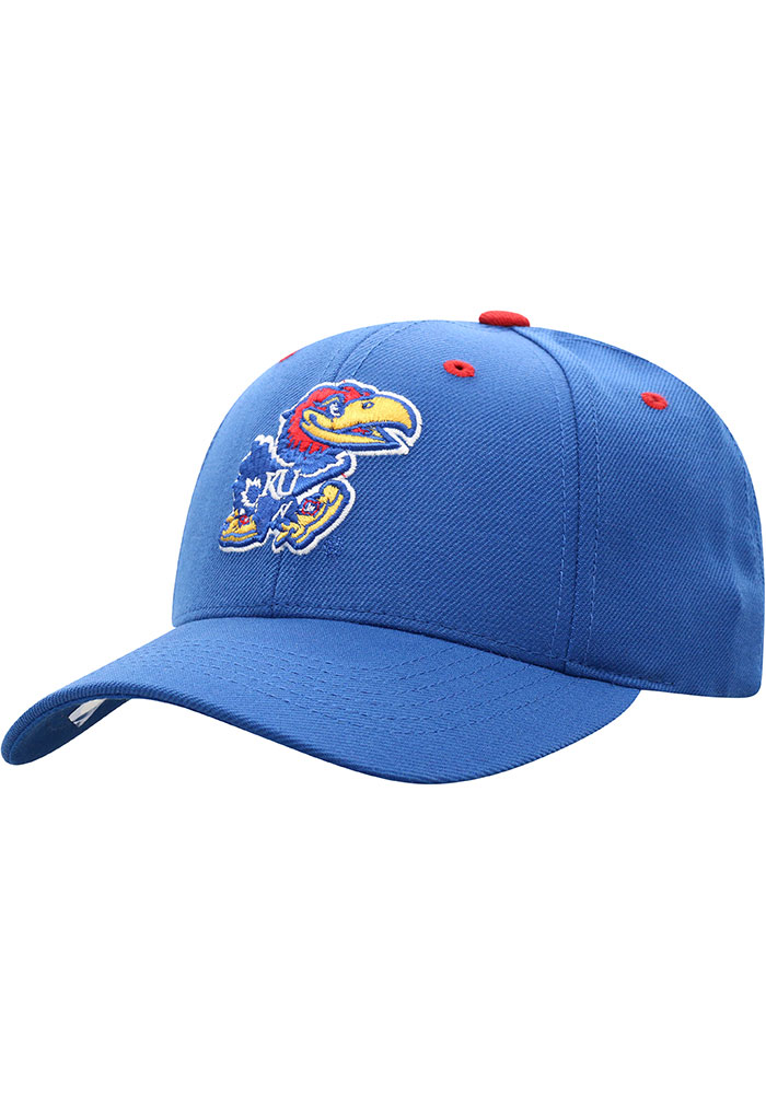 Top of the World Kansas Jayhawks Triple Conference Adjustable Hat - Blue - Image 1