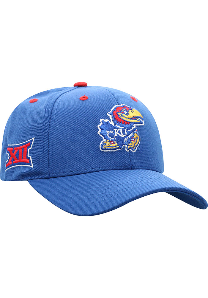 Top of the World Kansas Jayhawks Triple Conference Adjustable Hat - Blue - Image 2