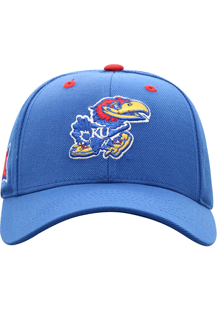 Top of the World Kansas Jayhawks Triple Conference Adjustable Hat - Blue - Image 3