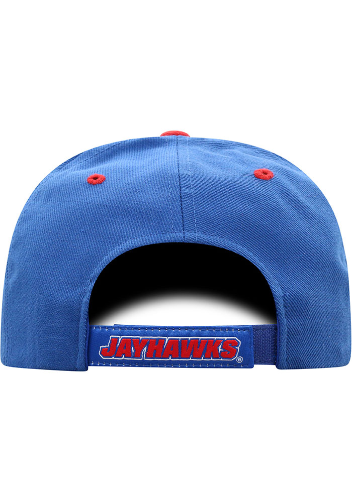 Top of the World Kansas Jayhawks Triple Conference Adjustable Hat - Blue - Image 4