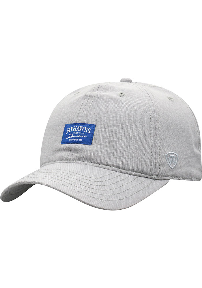 Top of the World Kansas Jayhawks Ante Adjustable Hat - Grey - Image 1