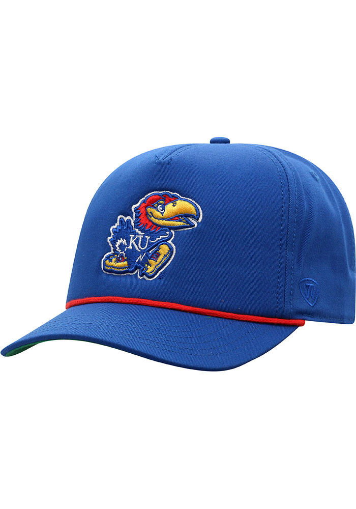 Kansas Jayhawks Top of the World Dally Adjustable Hat - Blue
