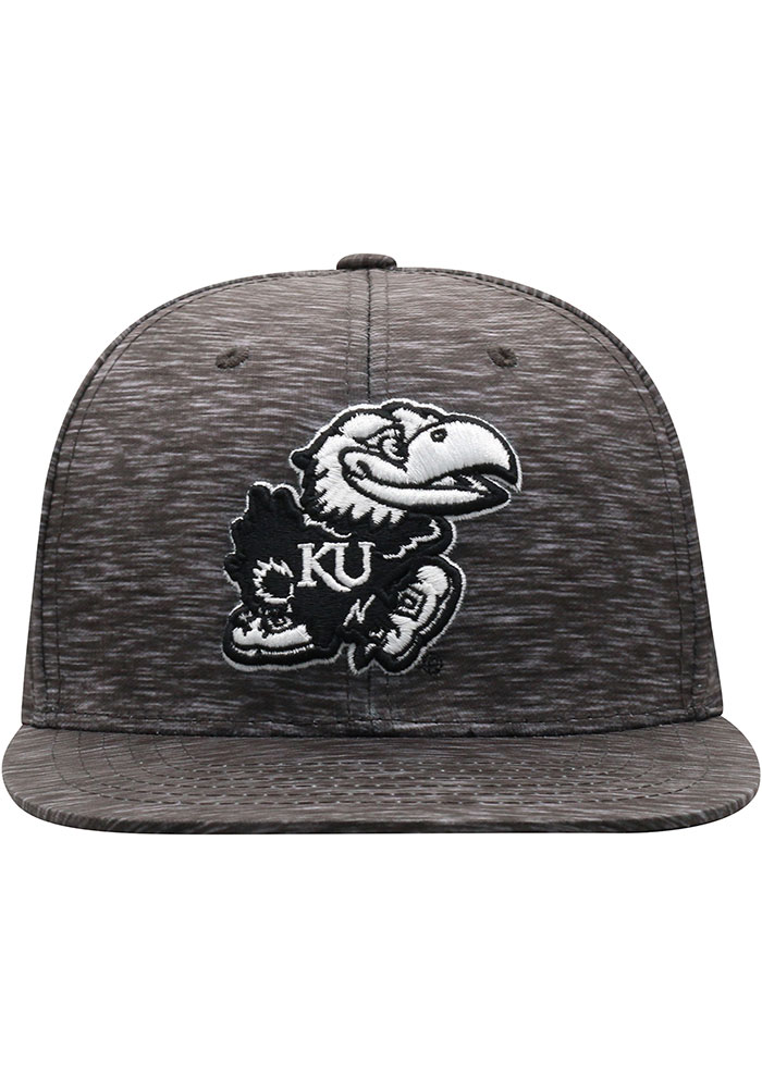 Top of the World Kansas Jayhawks Mens Black Gritty One-Fit Flex Hat - Image 3