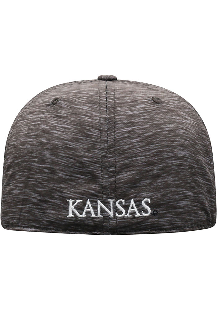 Top of the World Kansas Jayhawks Mens Black Gritty One-Fit Flex Hat - Image 4