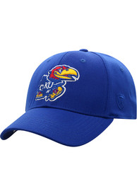 Kansas Jayhawks Top of the World Premium Collection One-Fit Flex Hat - Blue