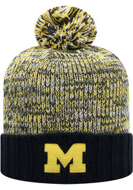 Michigan Wolverines Top of the World Soar Cuff Knit - Navy Blue