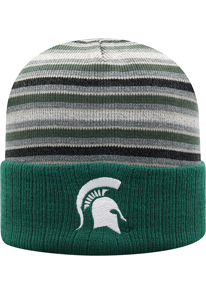 Top of the World Michigan State Spartans Green McGoat Cuff Mens Knit Hat - Image 1