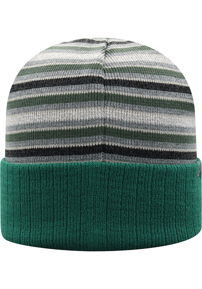 Top of the World Michigan State Spartans Green McGoat Cuff Mens Knit Hat - Image 2