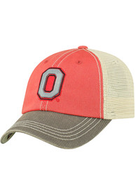 Ohio State Buckeyes Youth Top of the World Offroad Meshback Adjustable Hat - Red