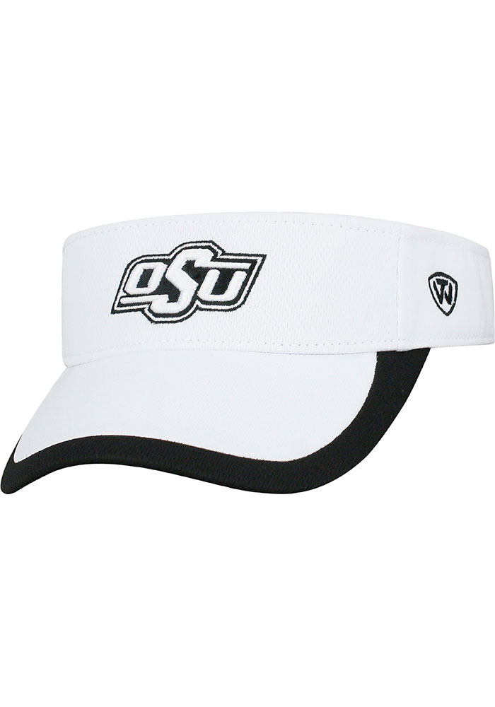 Top of the World Oklahoma State Cowboys White Game Time Womens Visor - Image 1