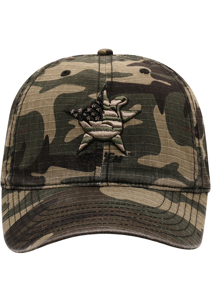 Top of the World Texas A&M Aggies Flagdrab Adjustable Hat - Green - Image 3