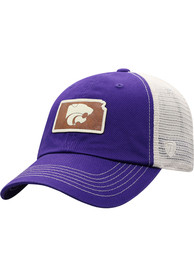 K-State Wildcats Top of the World HIDIST Adjustable Hat - Purple