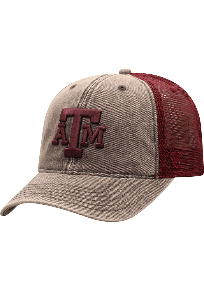 Texas A&M Aggies Top of the World Kimmer Adjustable Hat - Grey