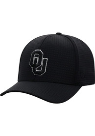 Oklahoma Sooners Top of the World Night Flex Hat - Black
