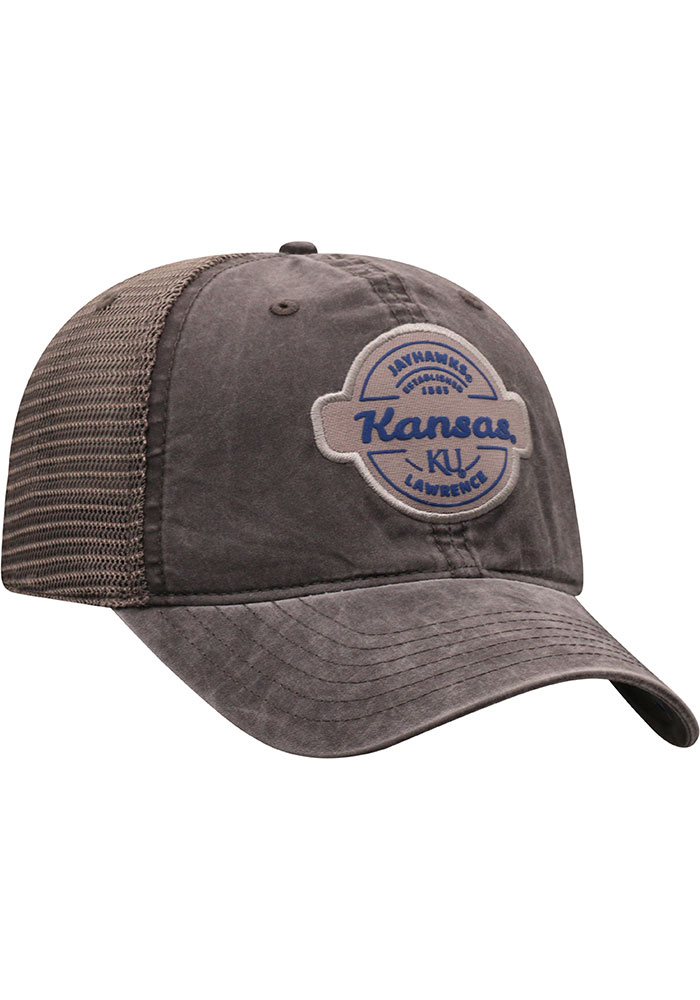 Top of the World Kansas Jayhawks Ominous Adjustable Hat - Grey - Image 2